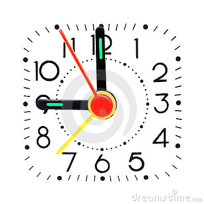 Clock showing 9 o clock