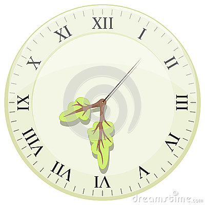 clock showing earth hour arrows in the form of a tree stock vector image 45139504. Black Bedroom Furniture Sets. Home Design Ideas
