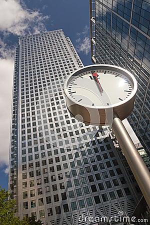 Clock showing noon