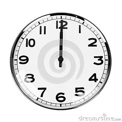 Clock sign 12 O Clock