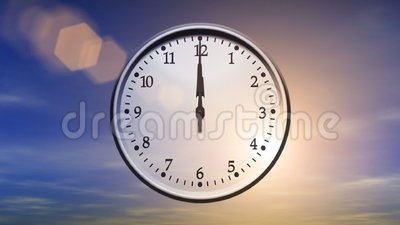 Clock Spinning 24 Hours Loop Stock Video Video 43673279