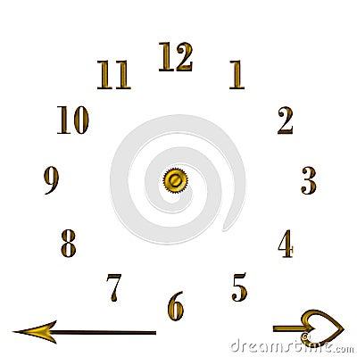Clock stencil