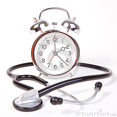 Clock with stethoscope