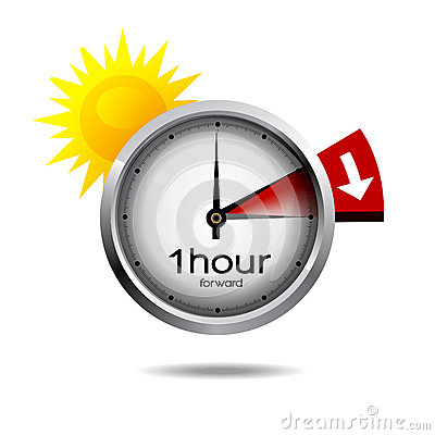 Free Clock Switch To Summer Time Daylight Saving Time Royalty Free Stock Photo - 52790785