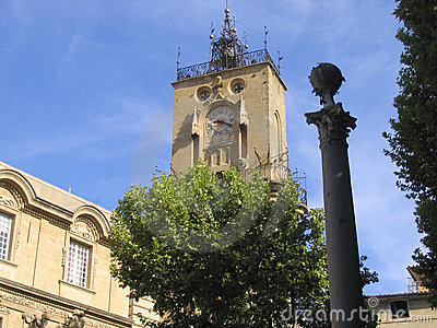 Clock tower, Aix-en-Provence, France