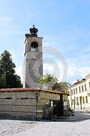 Free Clock Tower And Church Entrance In Bansko Stock Photos - 41025113