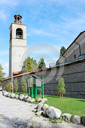 Free Clock Tower And Church Wall In Bansko Royalty Free Stock Photo - 41025215