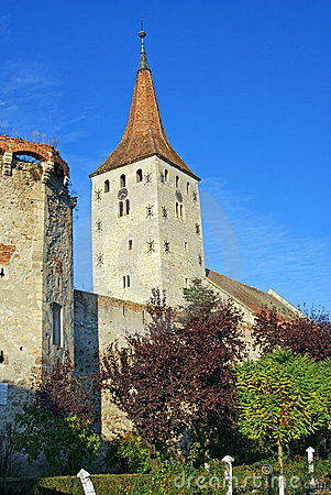 Free Clock Tower And Wall Of Ancient Citadel Stock Photography - 16688002