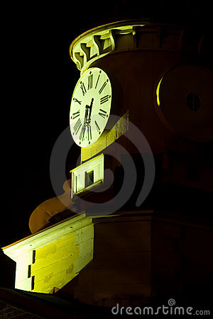 Free Clock Tower At Night Stock Photography - 4023572