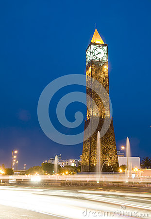 Clock Tower avenue Habib Bourguiba Tunisia