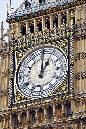 Clock on the tower of big Ben