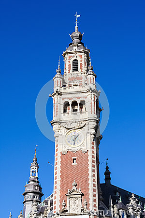 Clock tower at the chambre de commerce in lille france for Chambre de commerce turque en france