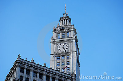 Clock Tower in Chicago Illinois