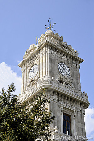 Free Clock Tower Dolmabahce, Istanbul Royalty Free Stock Images - 18042159