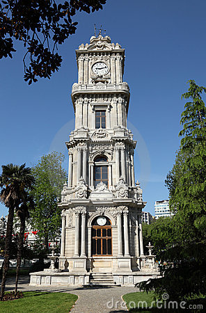 Clock tower at Dolmabahce Palace