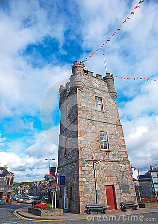 Clock tower in Dufftown, Scotland Editorial Image
