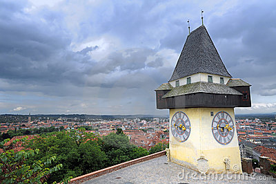 Clock tower in Graz