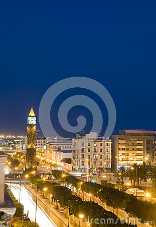 Clock Tower Habib Bourguiba Tunis Tunisia