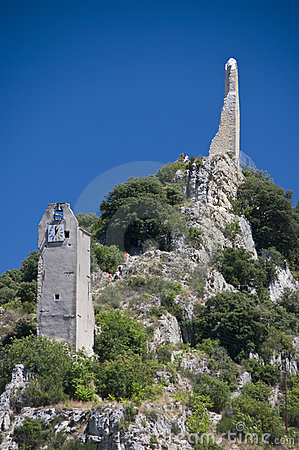 Clock tower on a hill