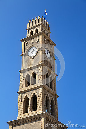 Free Clock Tower In Acco Royalty Free Stock Images - 30036239