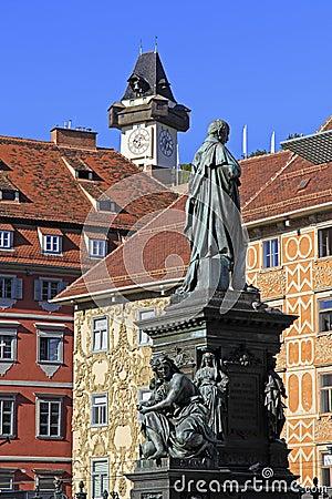 Free Clock Tower In Graz Stock Photos - 36553943