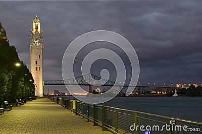 Clock Tower and Jacques Cartier Bridge