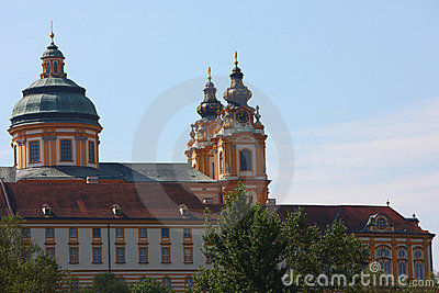 Clock tower in Melk abbey,germany 2011 summer
