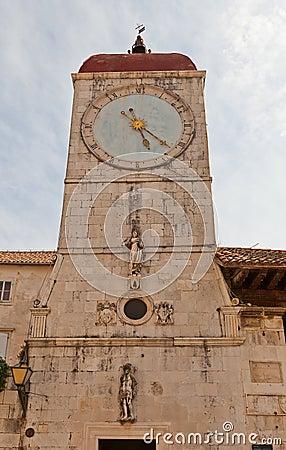 Free Clock Tower Of St Sebastian Church (1476). Trogir, Croatia Stock Photos - 41932413