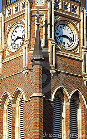 Free Clock Tower Of The Church Royalty Free Stock Image - 19739526