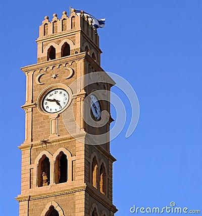Clock tower in old Akko