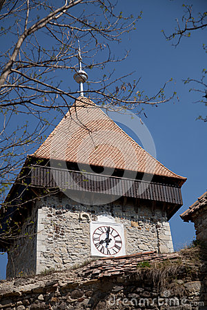 Clock tower of peasant fortress Drauseni