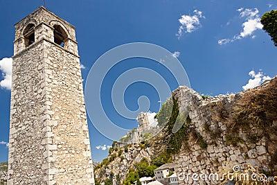 Clock tower in Pocitelj, Bosnia and Herzegovina.