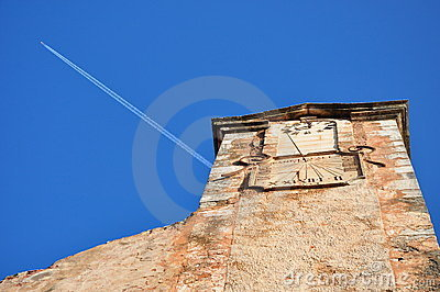 Clock tower in Roussillon, Provence