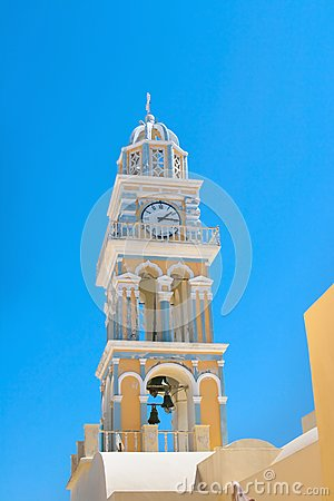 Clock tower in Santorini