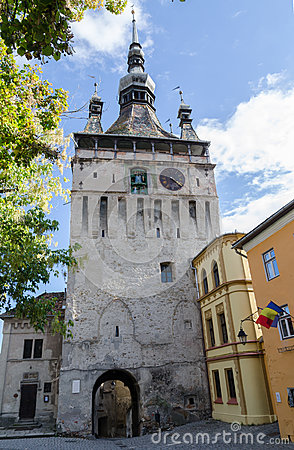 Clock tower in Sighișoara, Romania