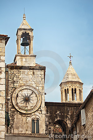 Clock tower in Split