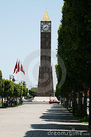 Clock tower in Tunis