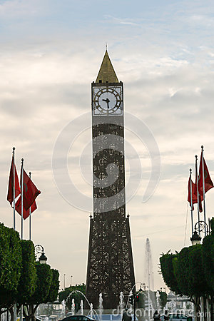 Clock Tower in Tunis, Tunisia