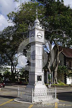 Clock tower in Victoria, Seychelles Editorial Stock Image