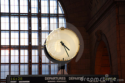 Clock train station