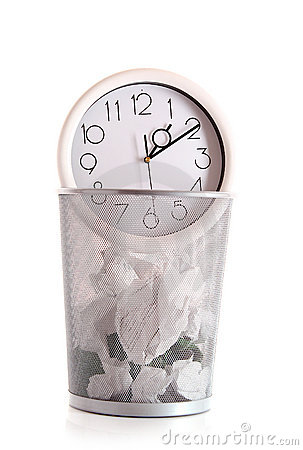 Clock in trash