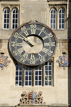Clock, Trinity college, Cambridge