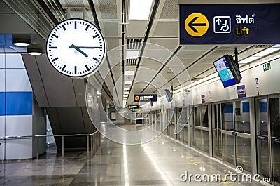 Clock on the underground railway
