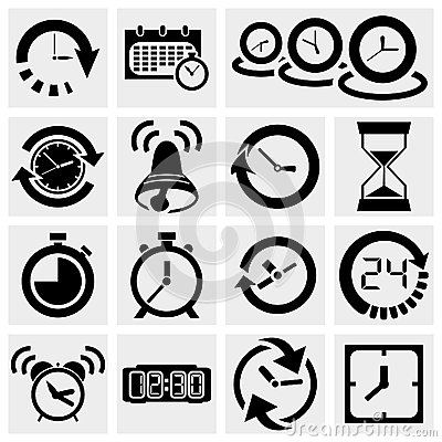 Free Clock Vector Icons Royalty Free Stock Photo - 31430005