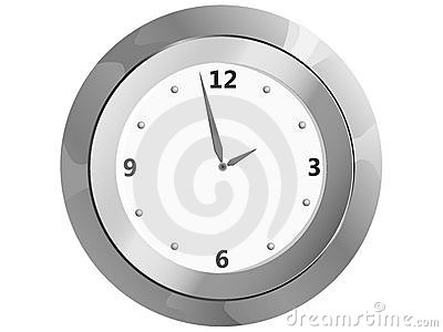 Clock On The Wall Stock Image - Image: 17167611