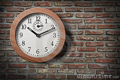 Clock on  wall.