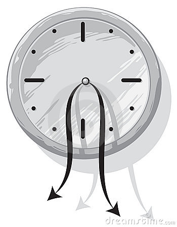 Clock with weak hanging pointers