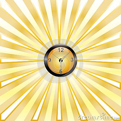 Clock whit rays