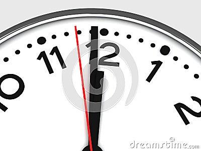 Clock at 12:00 Midnight or Noon