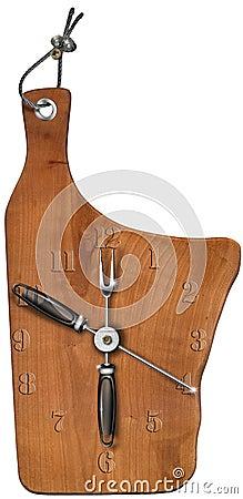Clock Wooden Cutting Board